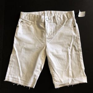 Gap girls Bermuda shorts white kids size 10 NWT